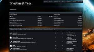 Shadow of Fear Forum